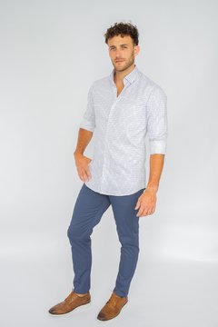 Camisa WILLIAM, corte Regular Celeste - comprar online