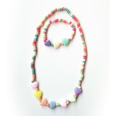 Set collar + pulsera multicolor