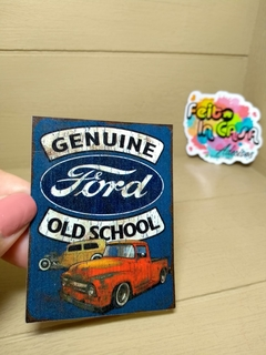 Adesivo Genuine Ford Old School