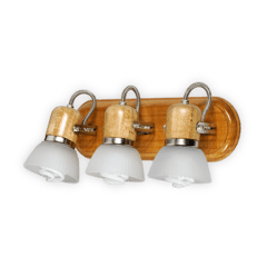 Aplique Tabla 3 luces de pared con tulipa de vidrio en platil o dorado