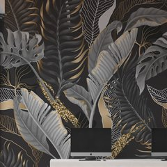 Silver leaves - Rollo. Vinilos decorativos
