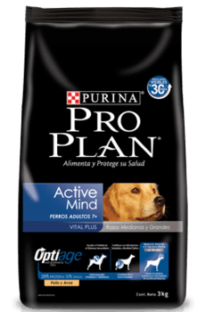 PURINA PRO PLAN Active Mind Adult 7+ Razas Medianas y Grandes con Optiage