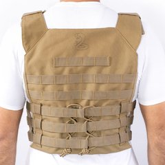 Colete Plate Carrier BRForce Couraça Coyote - comprar online