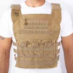 Colete Plate Carrier BRForce Couraça Coyote