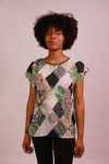 Blusa baby look estampas vaiadas - Duo Bella