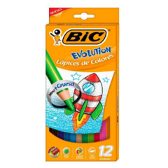 Bic Lápices Evolution Colores Intensos 4 mm x12