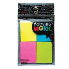Mooving Sticky Notes 4x50 Hojas 38x50mm