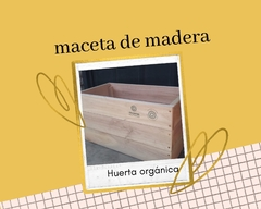 Maceta de madera Rectangular