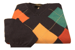 Sweater Escote V Rombos Y Cruces (bugato) 6982) - Bugato shops
