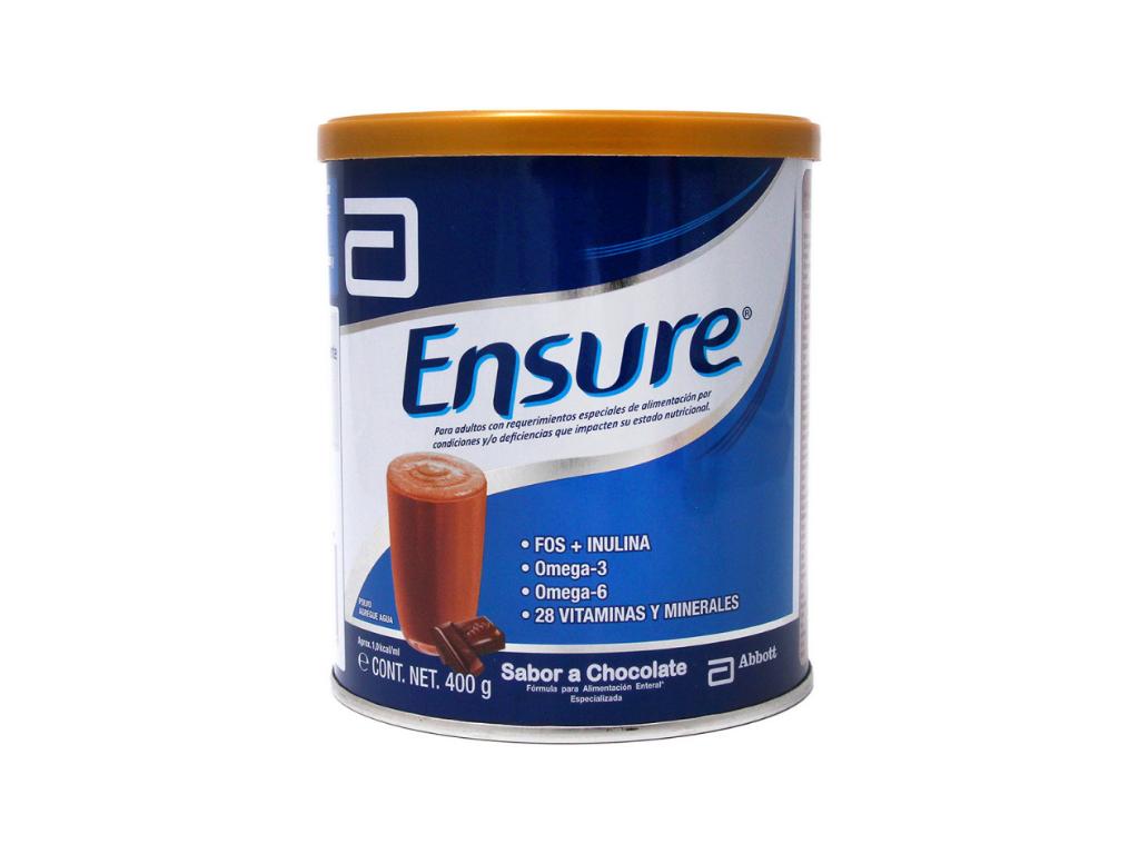 ENSURE Suplemento nutricional CHOCOLATE Polvo x 400 gr