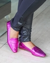 LOAFER METALIZADO ROSA VICENZA 593022