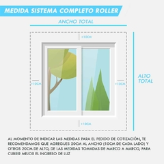 Cortina Roller Sunscreen 100x140cm en internet