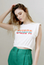 Camiseta cropped de malha muscle bordada guapa off white - comprar online
