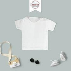Remera Bebe Modal Sublimar Con Broche de Costado