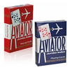 AVIATOR NAIPES POKER JUMBO AZUL