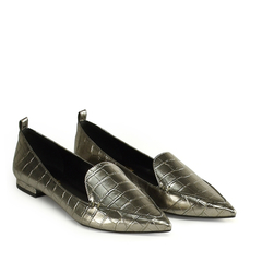 Sapatilha Loafer Croco Pewter na internet