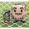 Kit Exclusivo Fluminense Almofada Decorativa Fred 25 cm + Copo