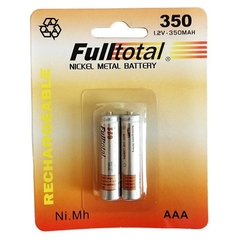 2 Pilas Aaa 350 Mah Full Total Nickel Metal P/ Estacas Solares