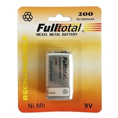 Bateria 9v 200 Mah Recargable Full Total