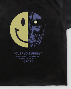 Camiseta Curta Terminator - Preto - Cuervo Supply
