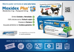 Moxidex Plus en comprimidos antiparasitario interno para perros y gatos