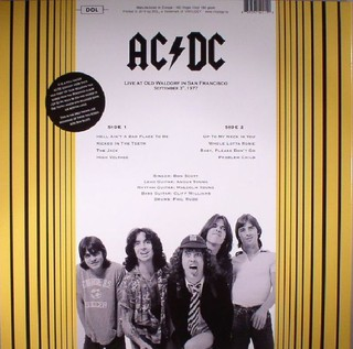 AC/DC - Live At Old Waldorf In San Francisco: September 3th, 1977 [LP] na internet