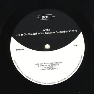 AC/DC - Live At Old Waldorf In San Francisco: September 3th, 1977 [LP] - 180 Selo Fonográfico