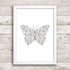 Poster Geometric Butterfly - comprar online