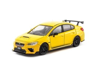 PRÉ VENDA Tarmac 1:64 Subaru WRX STI S207 NBR Package Sunrise Yellow