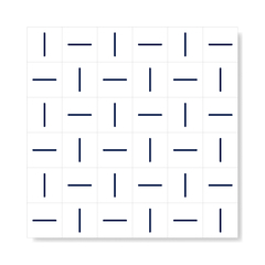 "M² ""Traço"" Navy Blue Ceramic Tiles - online store"