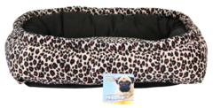 FANCY PETS CAMA RECTANGULAR ATIGRADA ROSA