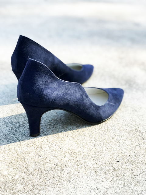 STILETTO GAMUZA AZUL 37