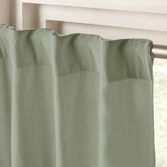 Cortina Ambiente Blackout Textil Kavanagh Color Verde