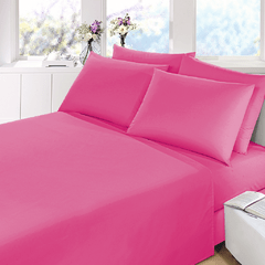 Sabana Prata Lisa 1 Plaza Color Fucsia