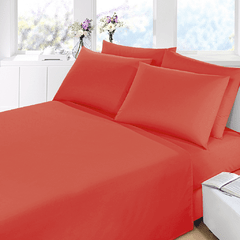 Sabana Prata Lisa 1 Plaza Color Rojo