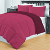 Acolchado Simil Plumon Reversible 1 Plaza Kavanagh Color Bordo