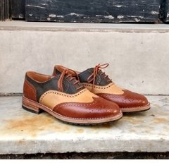 Zapatos Oxford Full Brogue en 3 colores