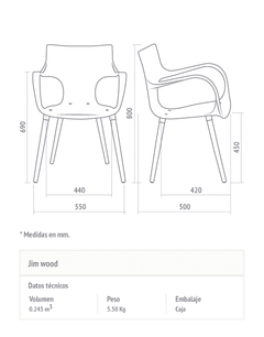 Silla Jim Wood EFVO 8467 en internet