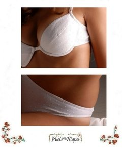 Conjunto de tricot labrado push-up