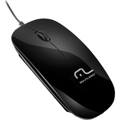 Mouse Optico Usb Colors Slim Black Piano Multilaser Unidade