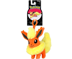 Pokemon Keychain Plush - Flareon - Official Tomy 10cm