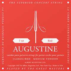 AUGUSTINE CLASSIC RED Regular Tension Trebles / Medium Tension Basses