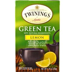 Te Twinings Ingles Green Tea Limon Caja X 20 Saquitos.