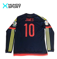 Camiseta suplente manga larga de Colombia #10 James - Mundo Sport