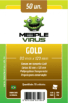 Sleeve Meeple Virus Gold 80 x 120 mm (100 unidades)