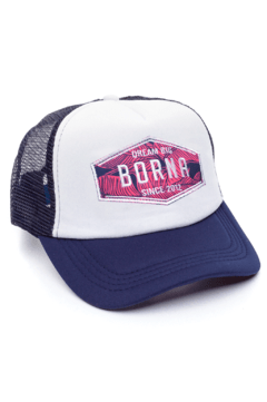 GORRA TRUCKER -  DREAM BIG BARBADOS - AZUL