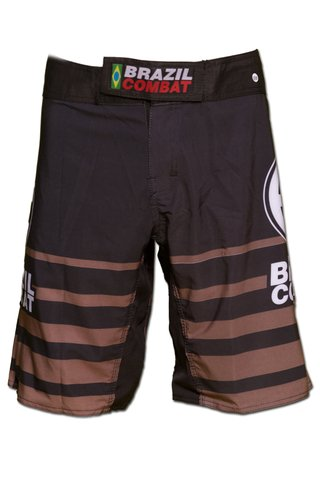 Grappling Short Shield IBJJF Preto e Marrom - comprar online