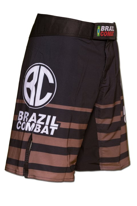Grappling Short Shield IBJJF Preto e Marrom