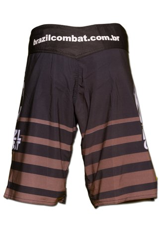 Grappling Short Shield IBJJF Preto e Marrom - Brazil Combat