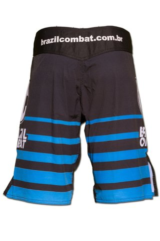 Grappling Short Shield IBJJF Preto e Azul - comprar online
